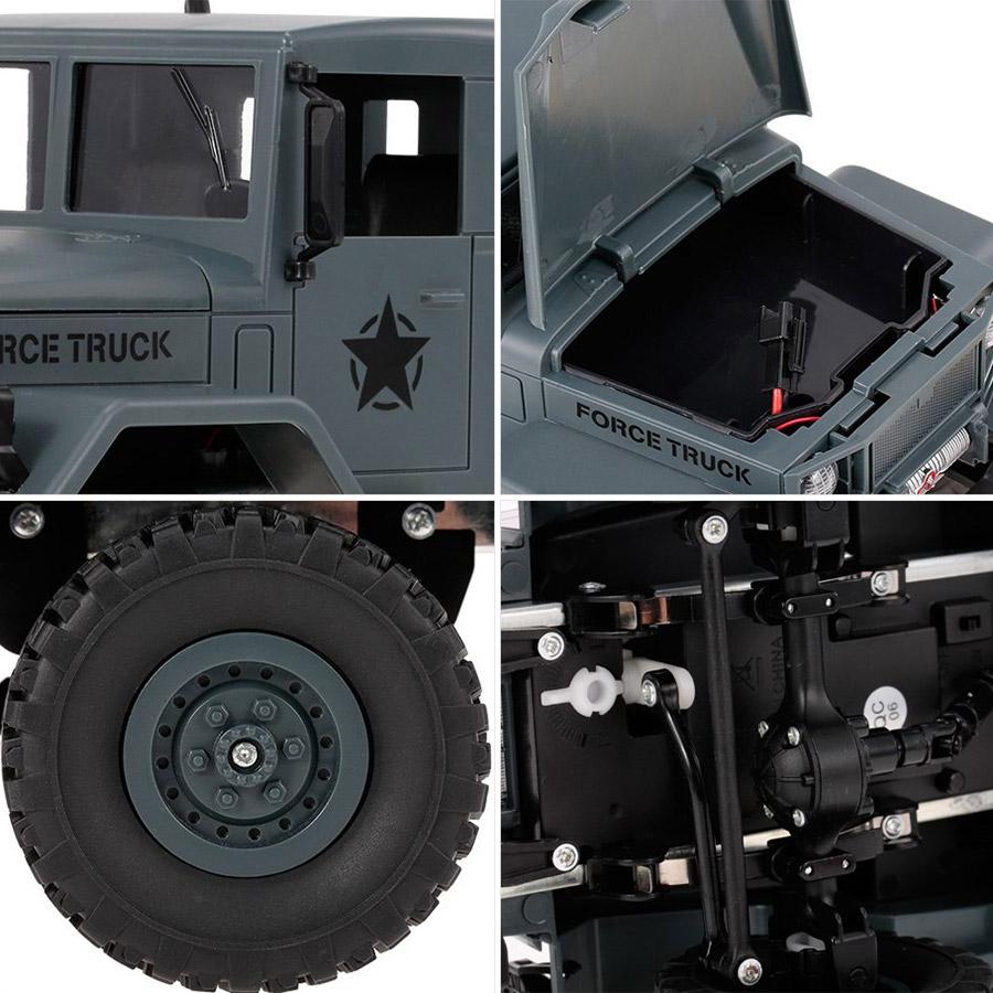Радиоуправляемый Военный Грузовик (4x4, 1:16, 34 см.) - Картинка