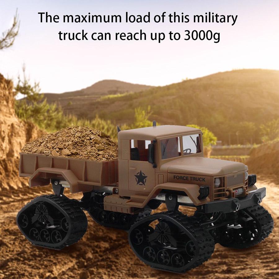 Радиоуправляемый Военный Грузовик на гусеницах (4x4, 1:16, 34 см.) - Картинка