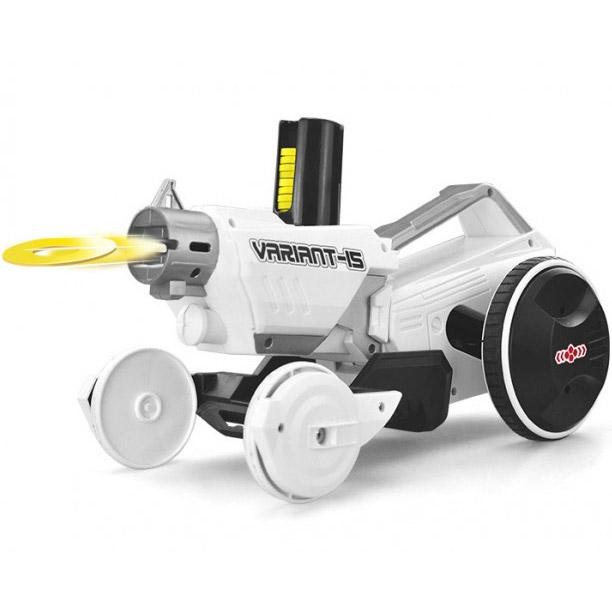 Белый Радиоуправляемый Бластер-Самоход 2 в1 (машинка + ружье, 44 см.)