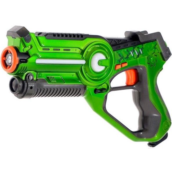 Зеленый Лазерный тир с мишенью и бластером