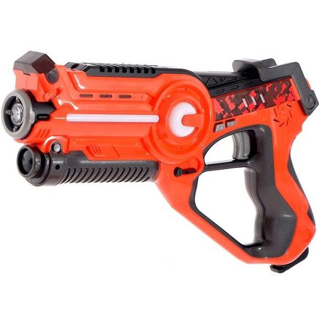 Оранжевый Лазерный тир с мишенью и бластером