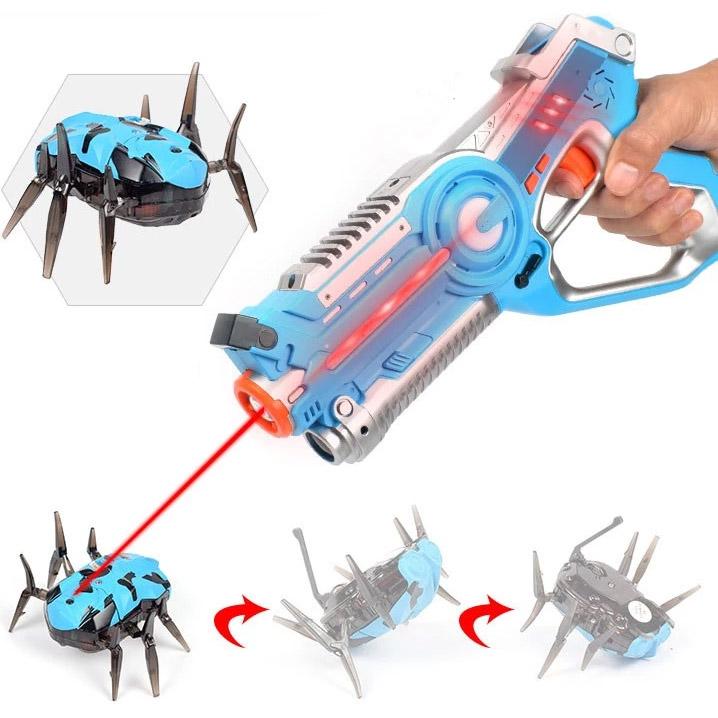 Тир лазерный пистолет и бегающий жук