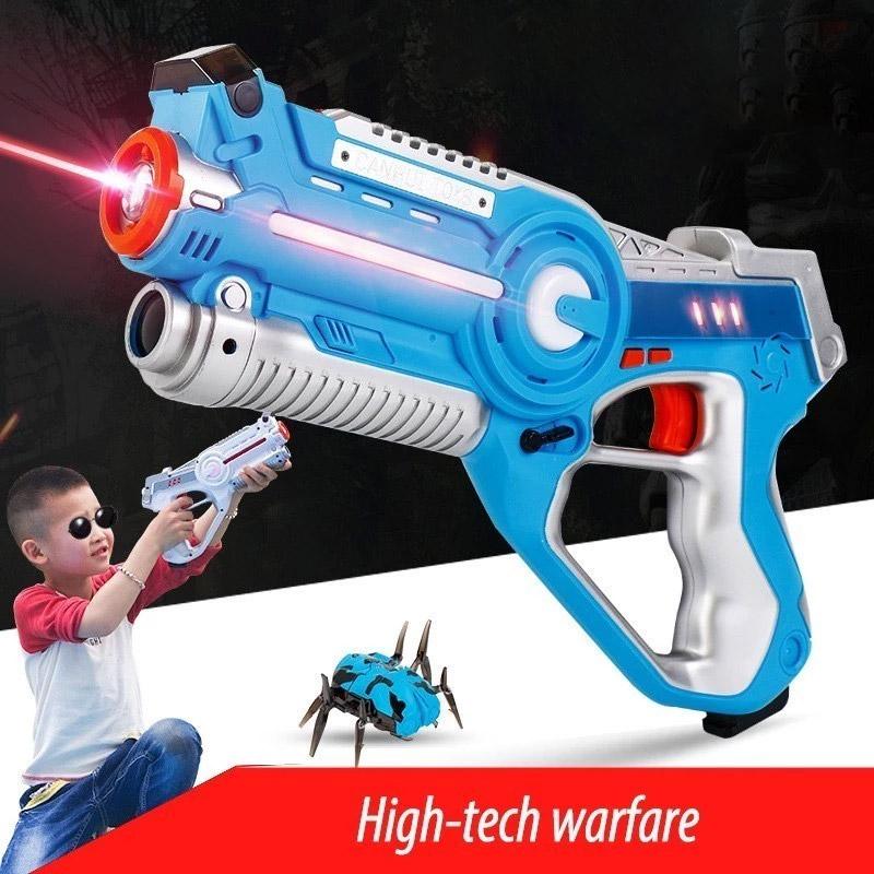 Тир лазерный пистолет и бегающий жук - Фото