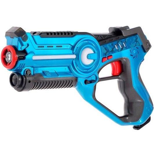 Синий Лазерный тир с мишенью и бластером