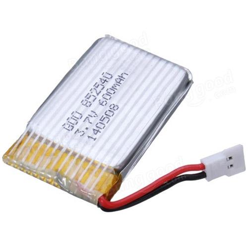 Аккумулятор LiPo 600mAh 3.7V для Syma X5, X5C, X5SC